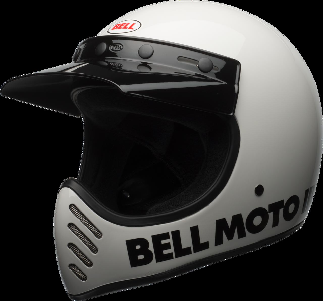 BELL MOTO-3 GLOSS WHITE CLASSIC