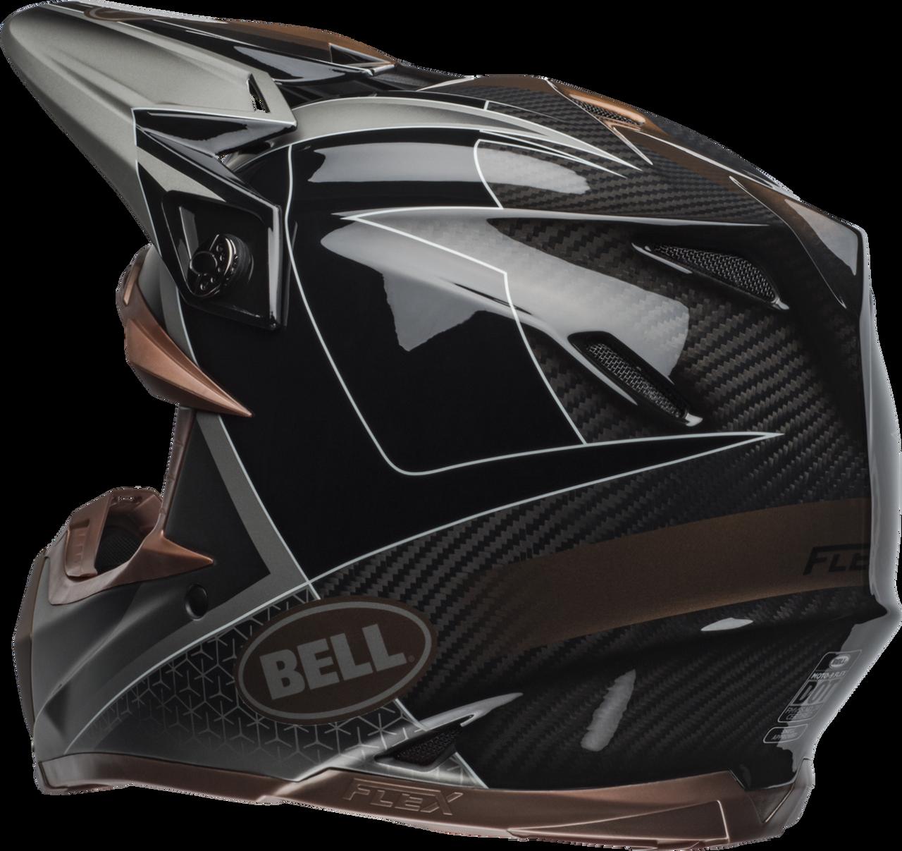 BELL MOTO-9 CARBON FLEX HOUND MATTE/GLOSS BLACK/BRONZE