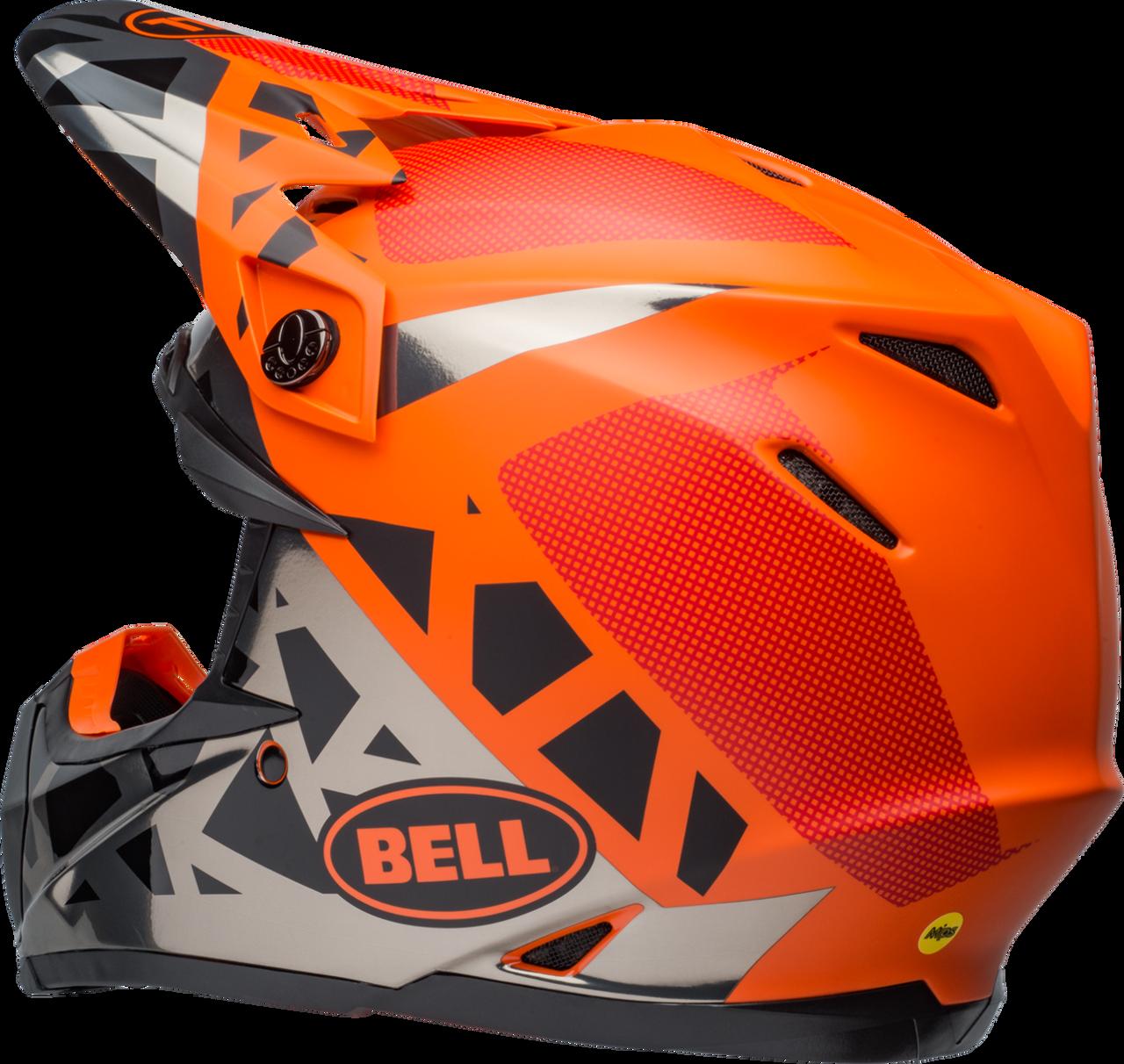 BELL MOTO-9 MIPS TREMOR MATTE/GLOSS BLACK/ORANGE/CHROME