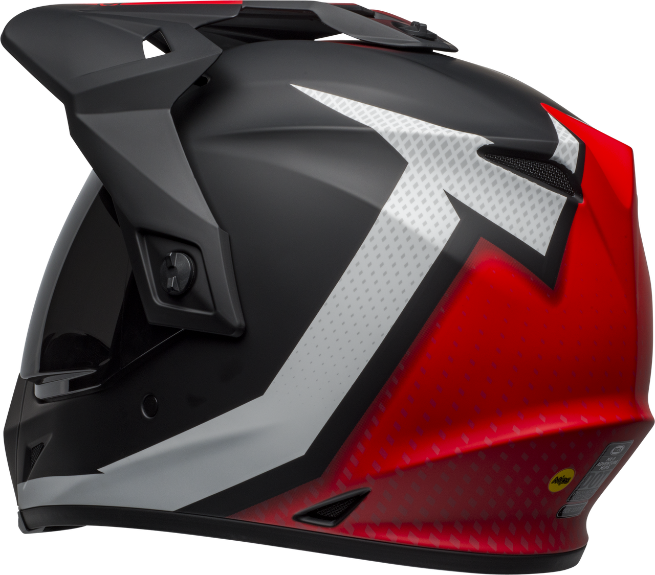 BELL MX-9 ADVENTURE MIPS SWITCHBACK MATTE BLACK/RED/WHITE