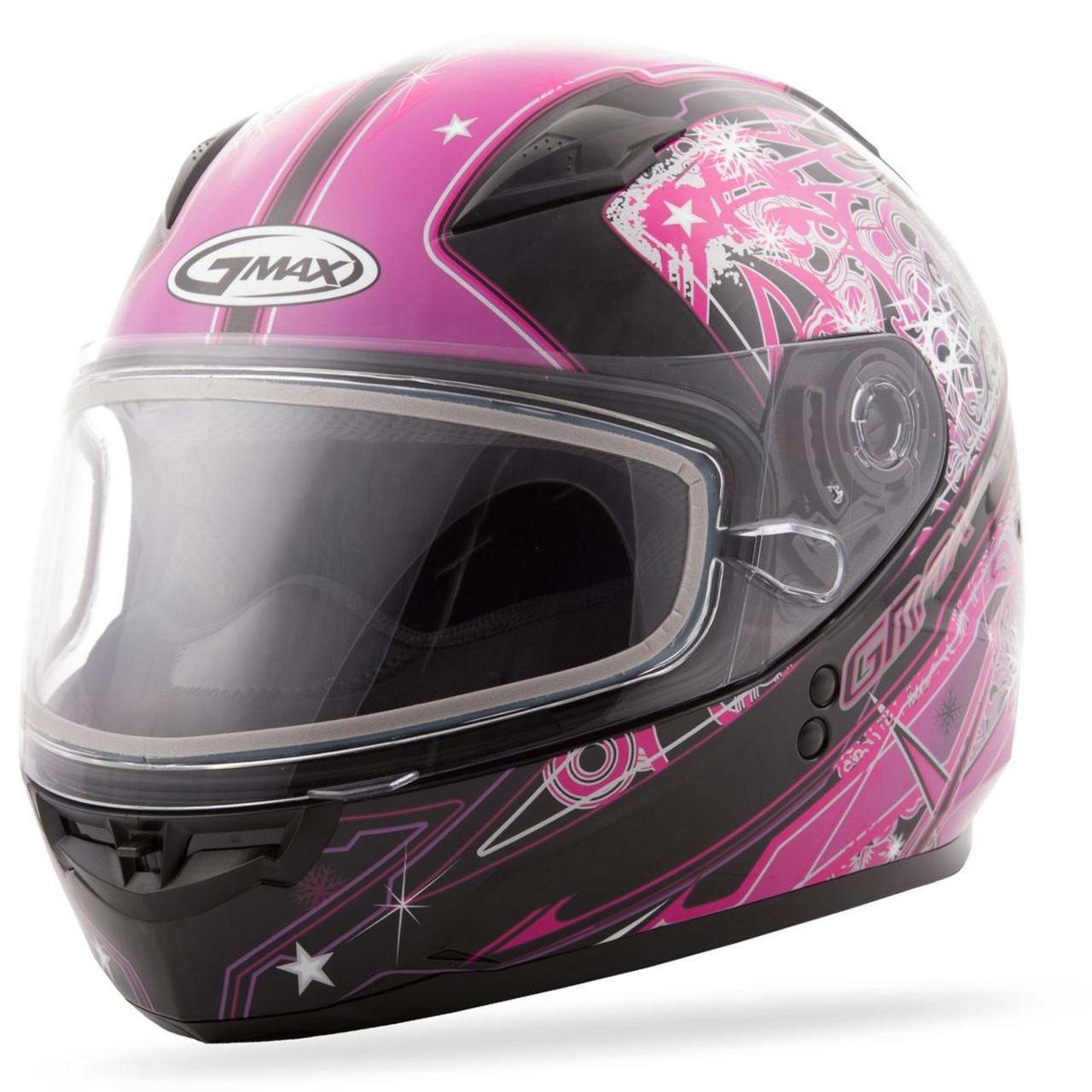 GMAX GM-49Y Youth Celestial Snow Helmet Pink/Purple/Black