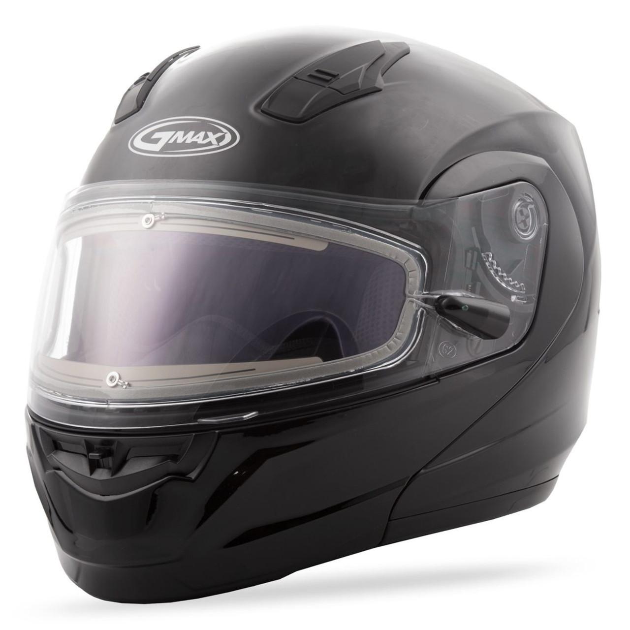 GMAX MD-04S Solid Snow Helmet W/Electric Shield Black