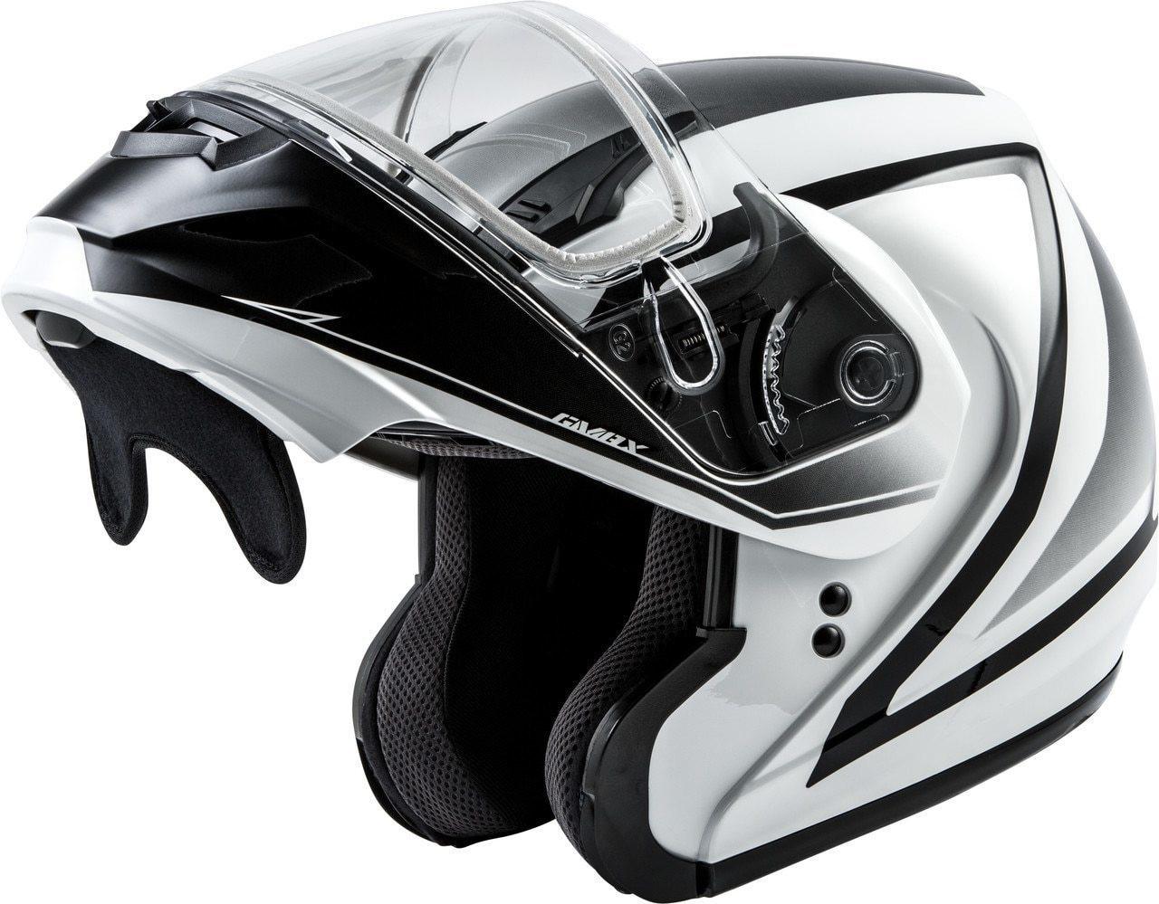 GMAX MD-04S Docket Snow Helmet White/Black
