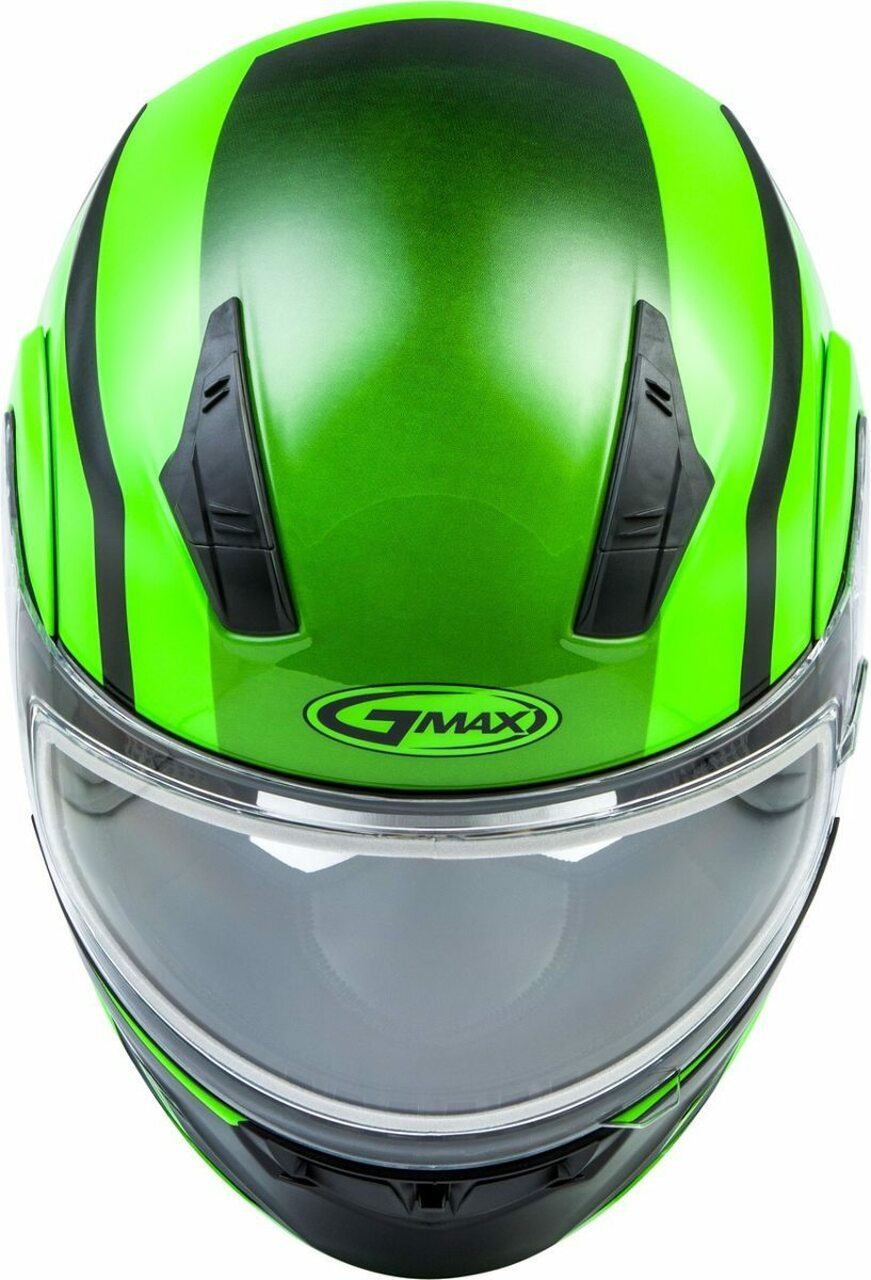 GMAX MD-04S Docket Snow Helmet Hi-Vis Green/Black