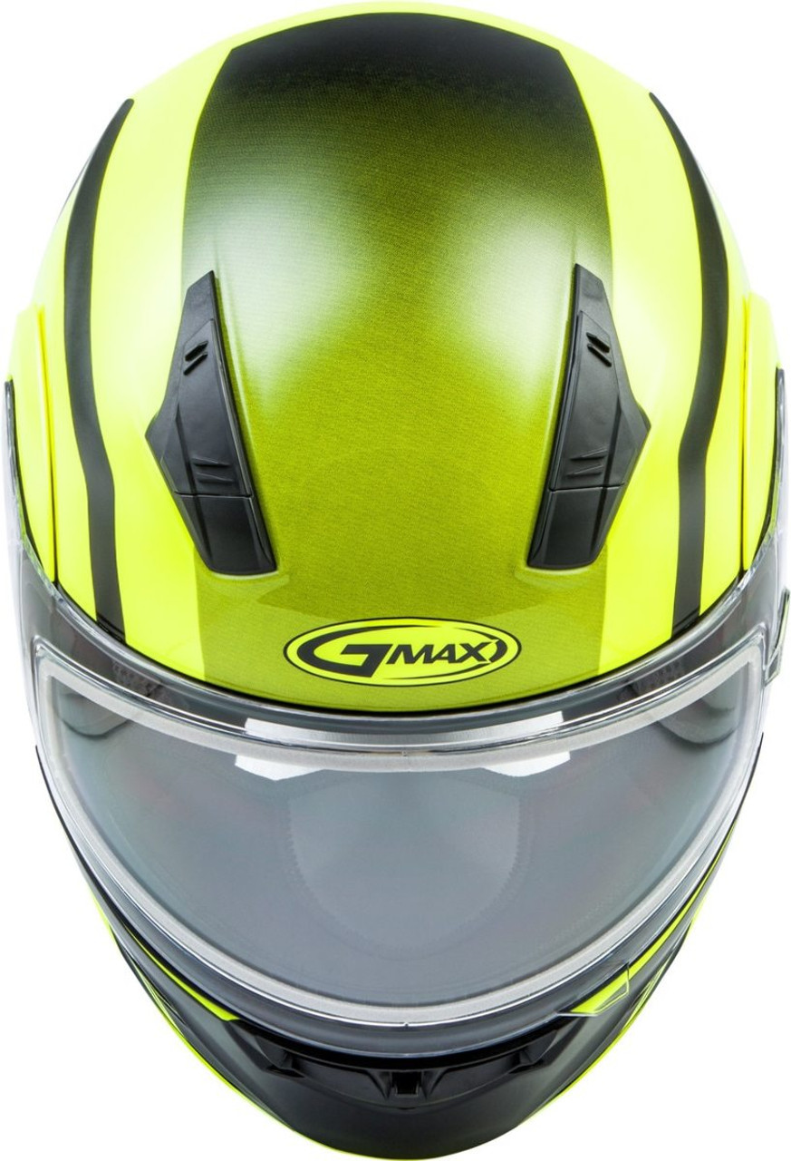 GMAX MD-04S Docket Snow Helmet Hi-Vis Yellow/Black