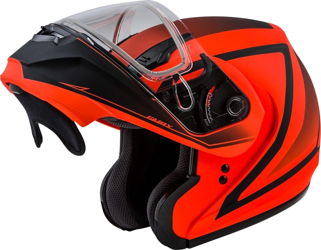 GMAX MD-04S Docket Snow Helmet Matte Hi-Vis Orange/Black