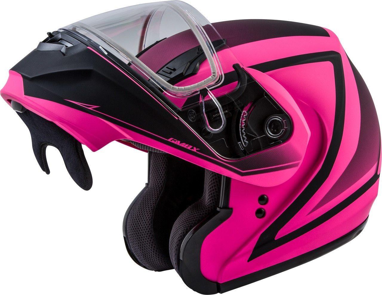 GMAX MD-04S Docket Snow Helmet Matte Hi-Vis Pink/Black