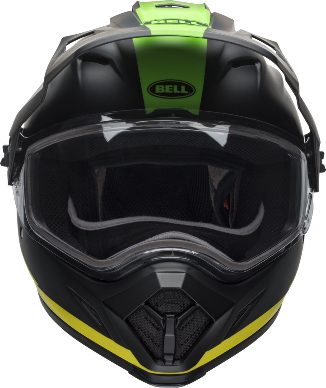 BELL MX-9 ADVENTURE SNOW SWITCHBACK MATTE BLACK/FLO GREEN
