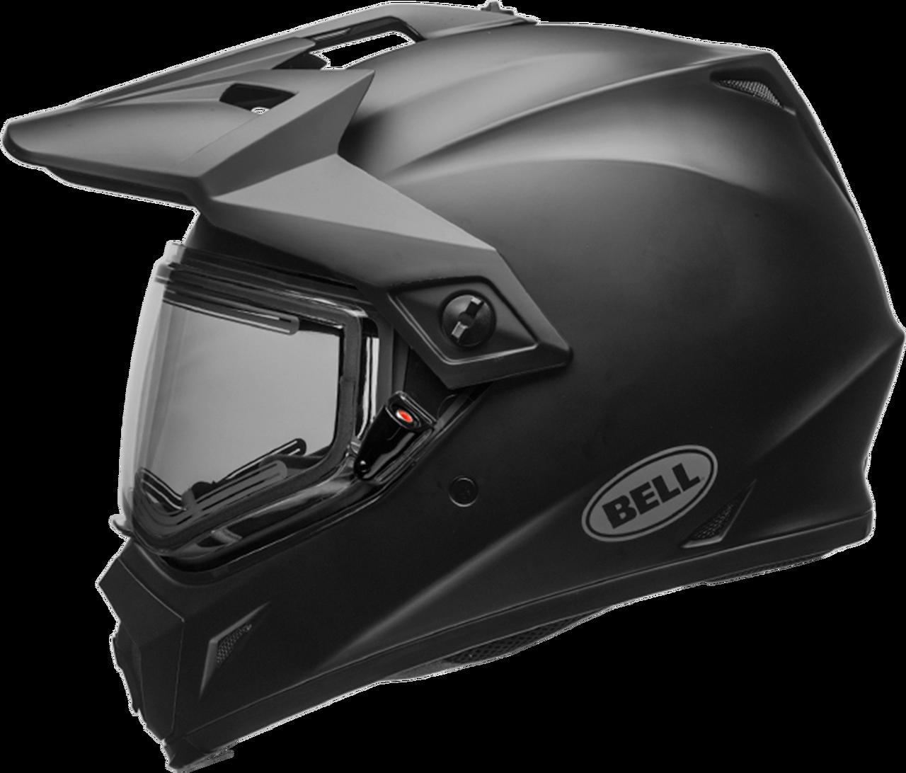 BELL MX-9 ADVENTURE SNOW W/ELECTRIC SHIELD MATTE BLACK