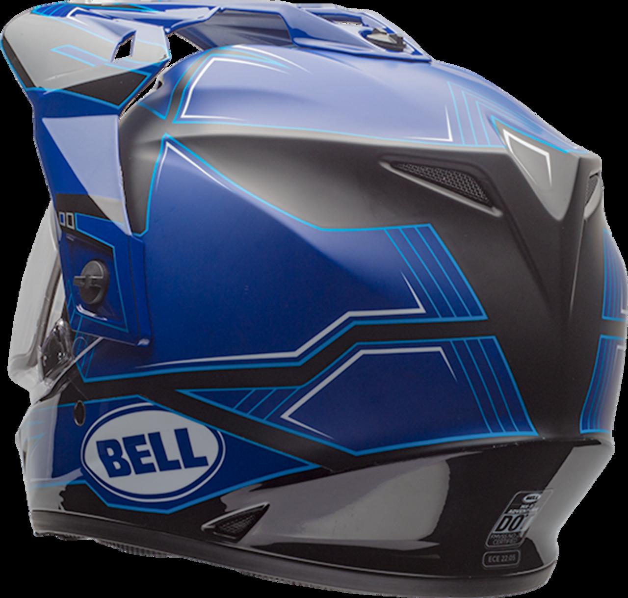 BELL MX-9 ADVENTURE SNOW MATTE/GLOSS BLUE