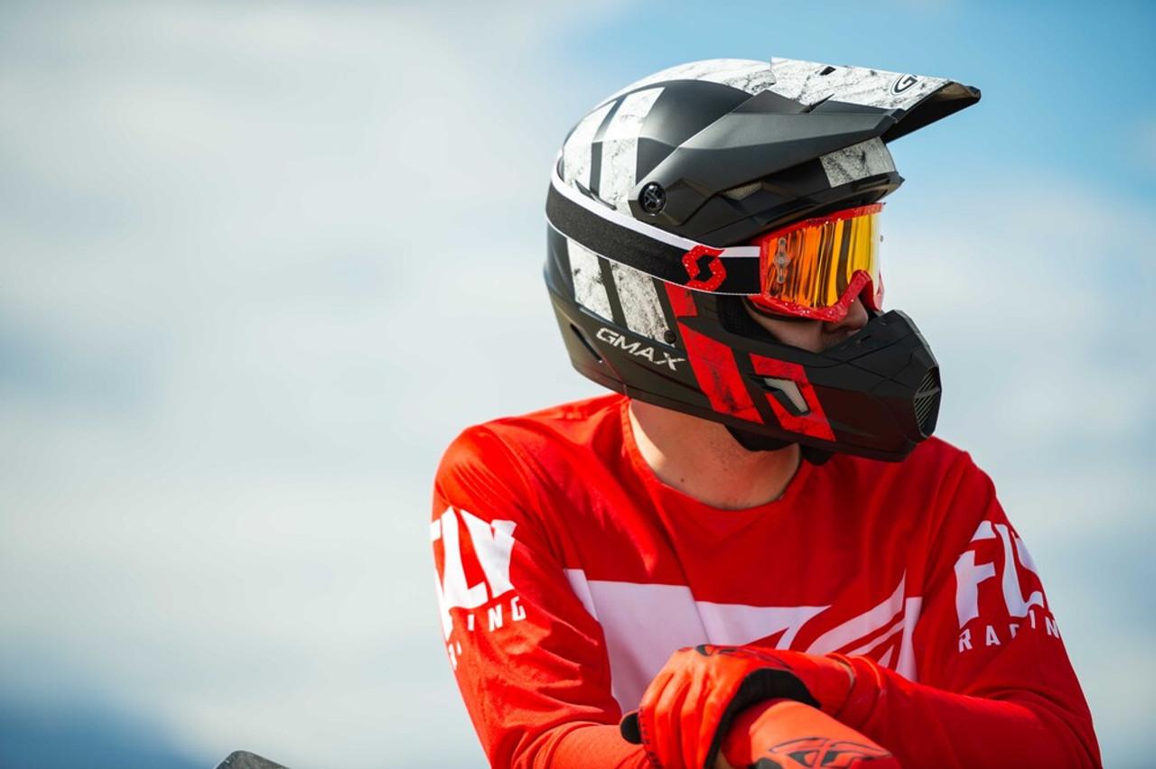 GMAX MX-46 OFF-Road Dominant Helmet Matte Black/Hi-Vis