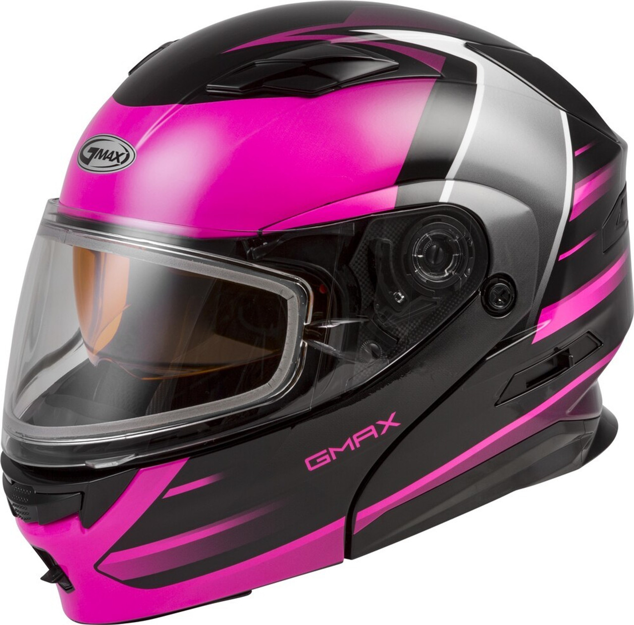 GMAX MD-01S Modular Snow Helmet Descendant Black/Pink/White