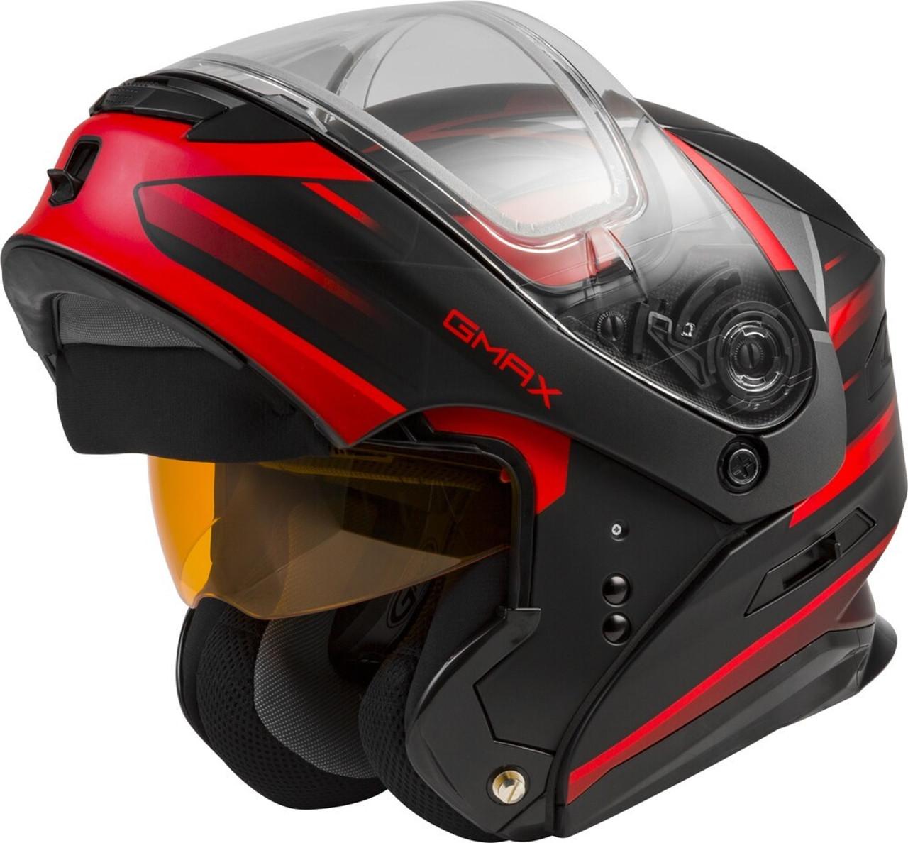 GMAX MD-01S Modular Snow Helmet Descendant Matte Black/Red