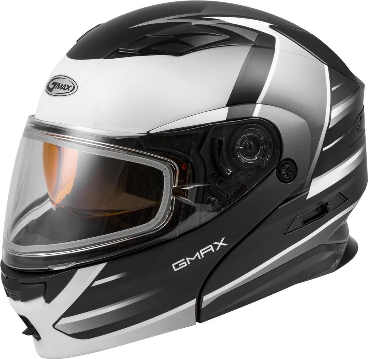 GMAX MD-01S Modular Snow Helmet Descendant Matte Black/White