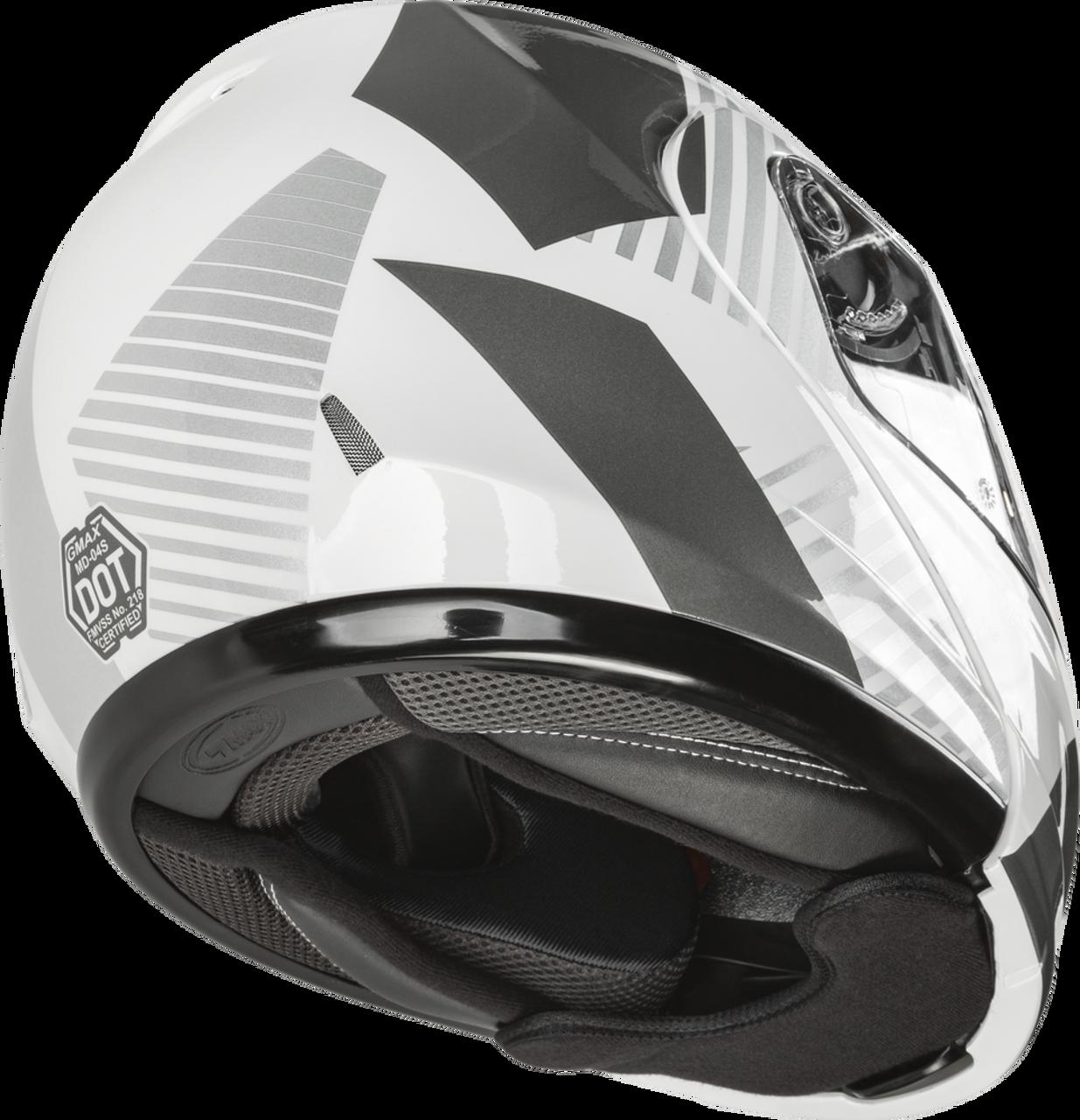 GMAX MD-04S Modular Reserve Snow Helmet White/Silver