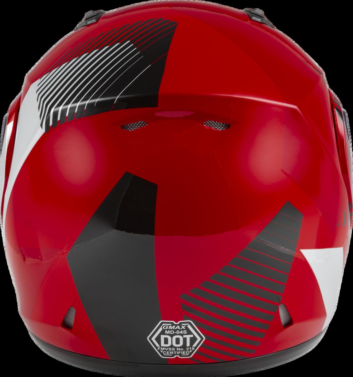 GMAX MD-04S Modular Reserve Snow Helmet Red/Silver/Black