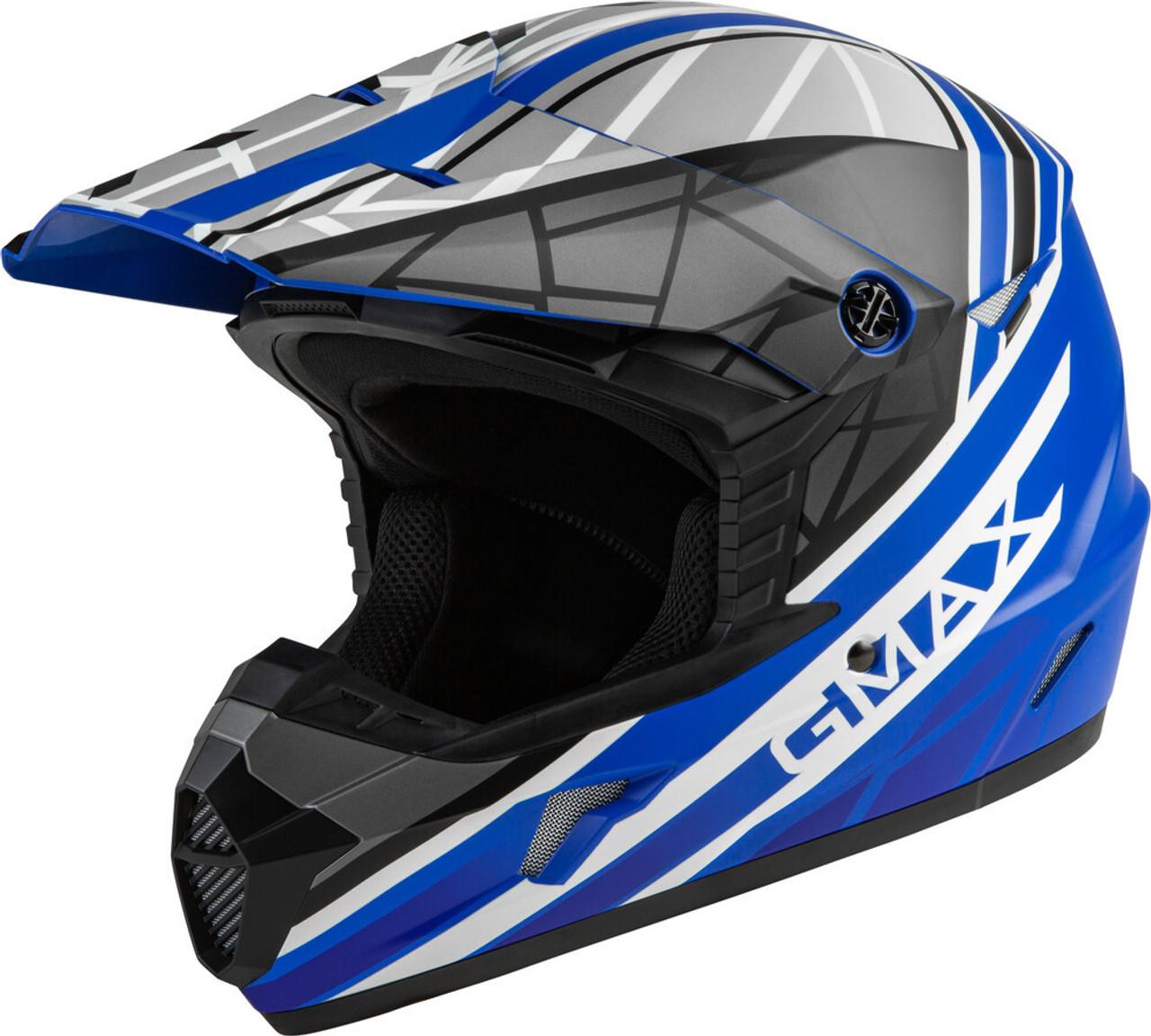 GMAX MX-46 Mega Off-Road Helmet Matte Blue/Black/White