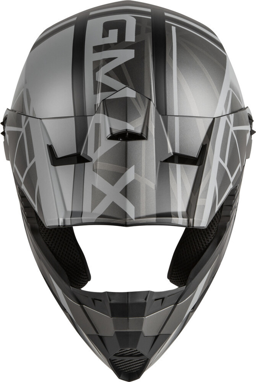 GMAX MX-46Y Mega Off-Road Youth Helmet Matte Black/Grey