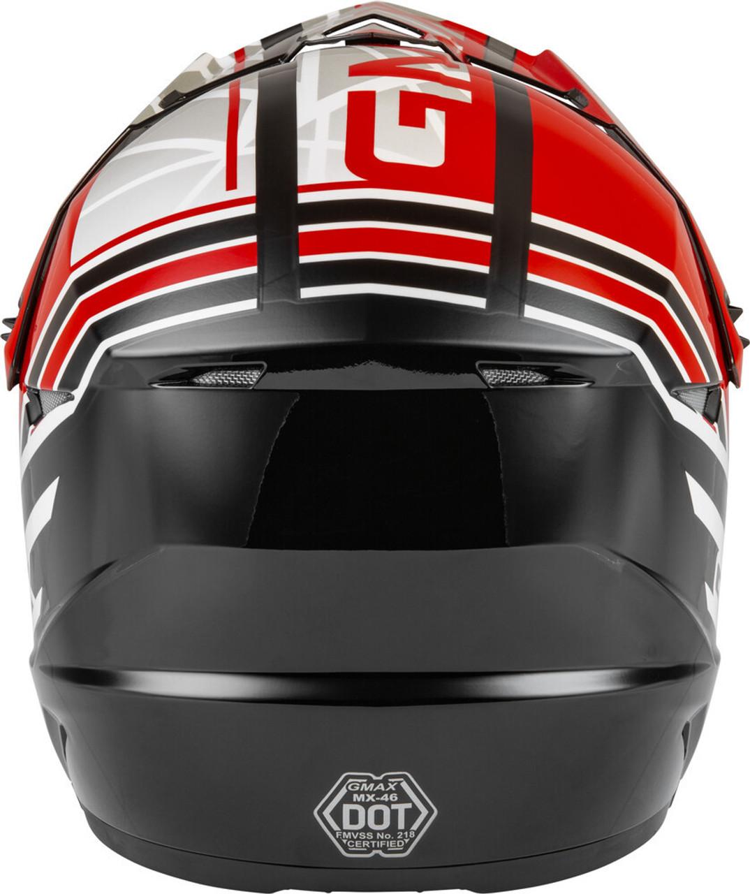 GMAX MX-46Y Mega Off-Road Youth Helmet Black/Red/White