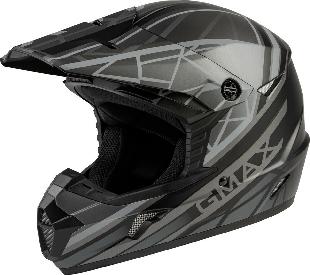 GMAX MX-46 Mega Off-Road Helmet Matte Black/Grey
