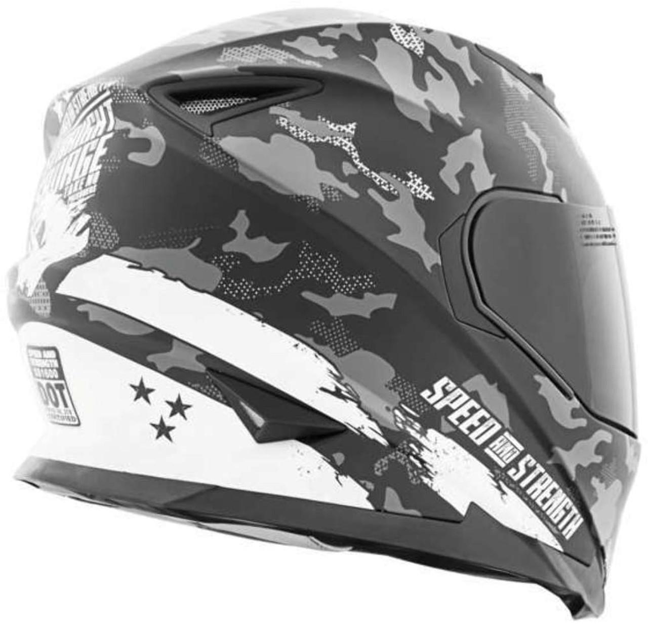 LARGE Sure Shot BLUE//BLACK Speed /& Strength SS1600 Helmet