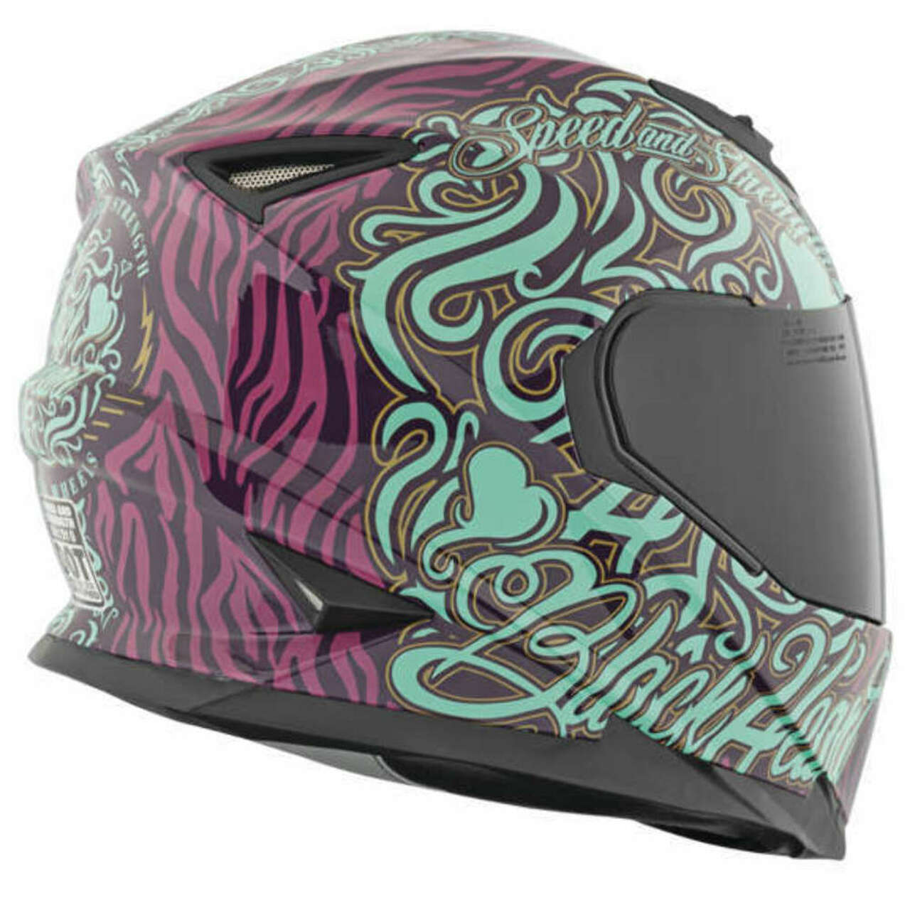 SPEED AND STRENGTH BLACK HEART SS1310 GLOSS PURPLE/TEAL