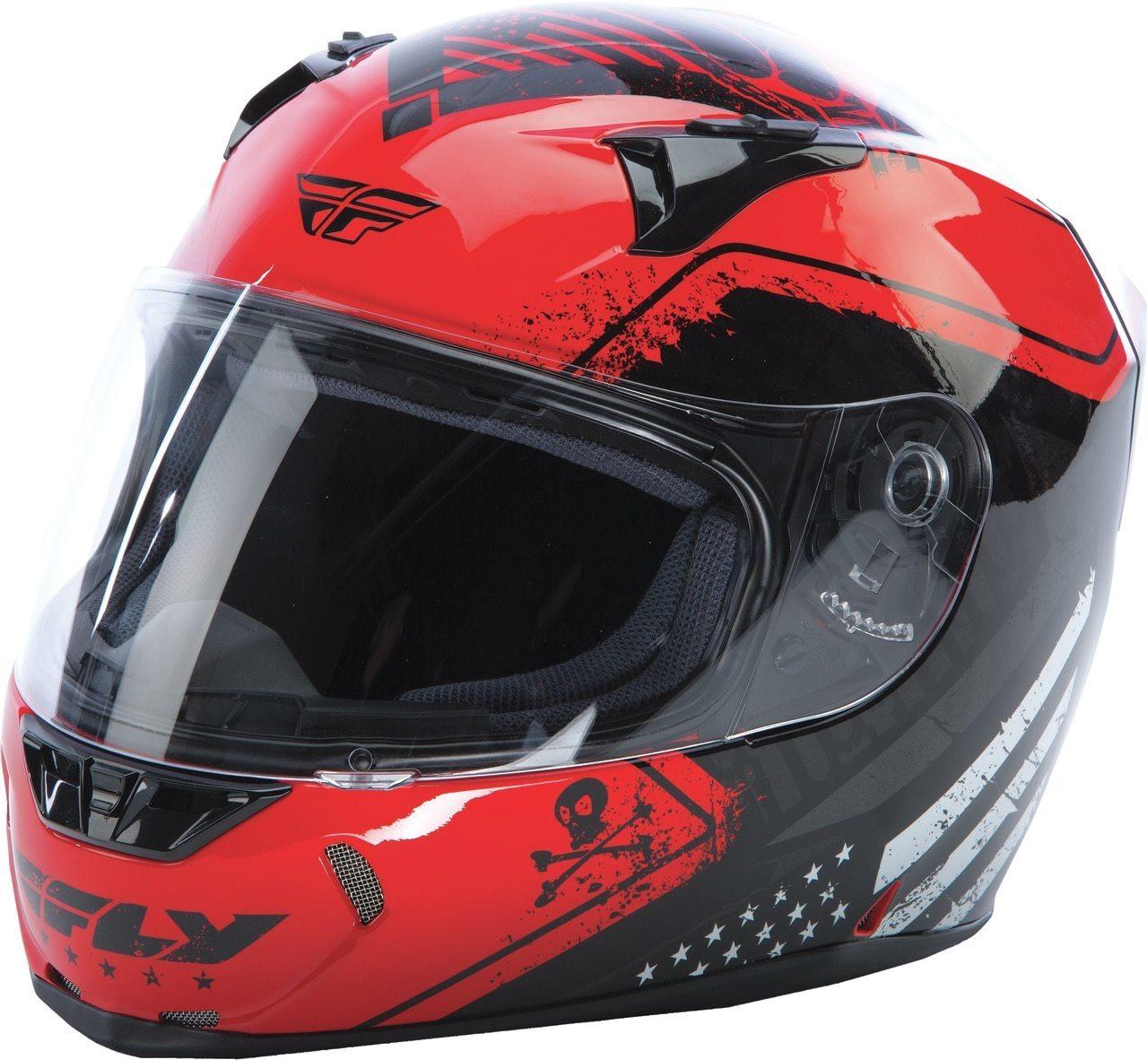 Fly Racing Revolt FS Patriot Helmet Gloss Red/Black
