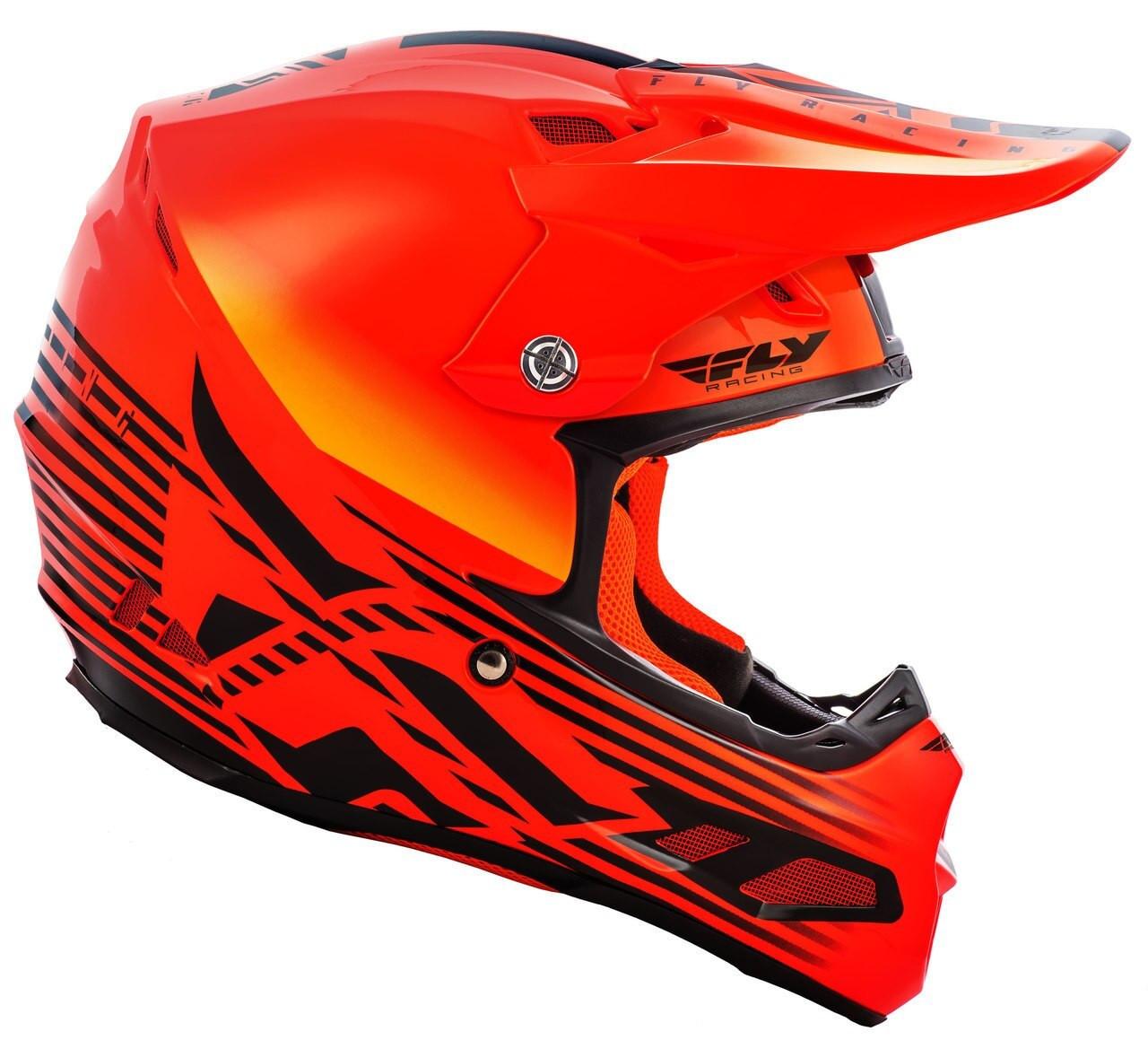Fly Racing 73-46253 F2 Carbon Shield Helmet Visor White//Red