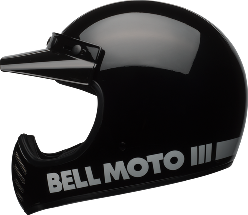 BELL MOTO-3 GLOSS BLACK CLASSIC