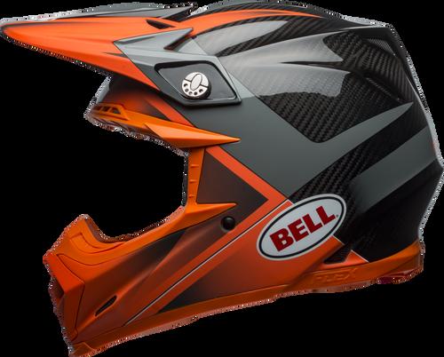 BELL MOTO-9 CARBON FLEX HOUND MATTE/GLOSS ORANGE/CHARCOAL