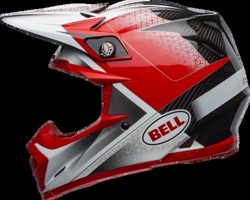 BELL MOTO-9 CARBON FLEX HOUND MATTE/GLOSS RED/WHITE/BLACK