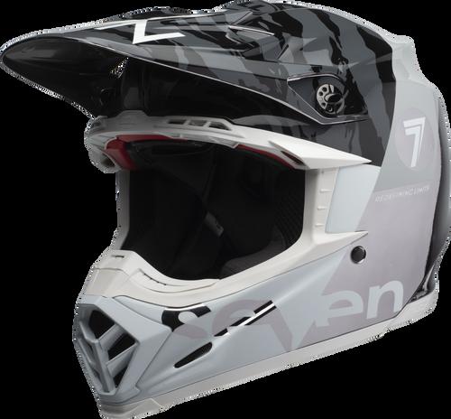 BELL MOTO-9 CARBON FLEX SEVEN ZONE GLOSS BLACK/WHITE/CHROME