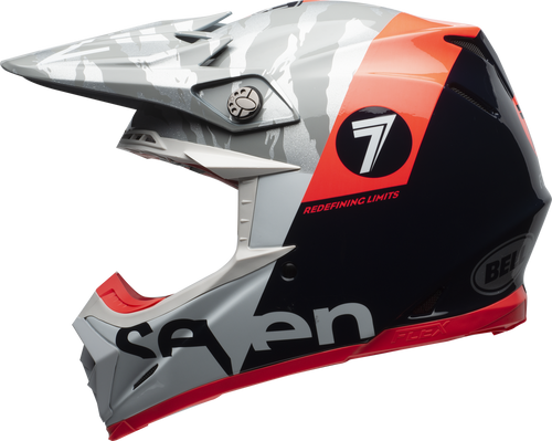 BELL MOTO-9 CARBON FLEX SEVEN ZONE GLOSS NAVY/CORAL