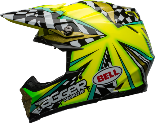 BELL MOTO-9 CARBON FLEX TAGGER MAYHEM GLOSS GREEN/BLACK/WHITE