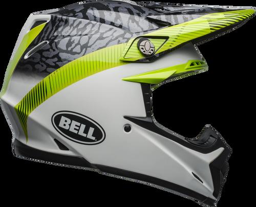 BELL MOTO-9 MIPS CHIEF MATTE/GLOSS BLACK/WHITE/GREEN