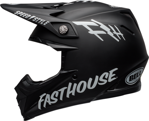BELL MOTO-9 MIPS FASTHOUSE MATTE BLACK/WHITE