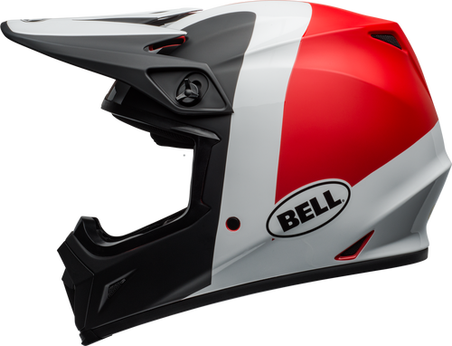 BELL MX-9 MIPS PRESENCE MATTE/GLOSS BLACK/WHITE/RED