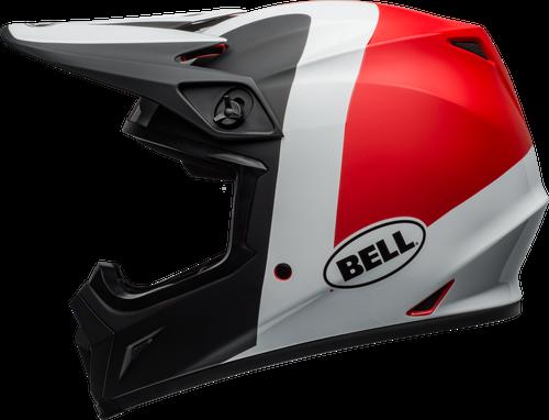 BELL MX-9 MIPS PRESENCE MATTE/GLOSS BLACK/WHITE/RED