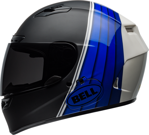 BELL QUALIFIER DLX MIPS ILLUSION MATTE/GLOSS BLACK/BLUE/WHITE