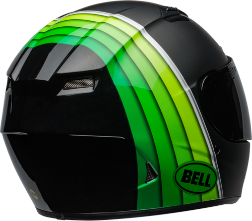 BELL QUALIFIER DLX MIPS ILLUSION MATTE/GLOSS BLACK/GREEN