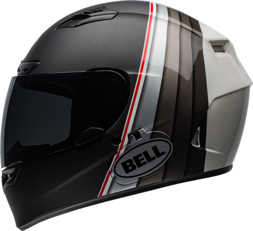 BELL QUALIFIER DLX MIPS ILLUSION MATTE/GLOSS BLACK/SILVER/WHITE