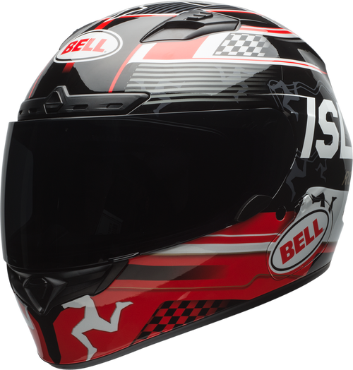 BELL QUALIFIER DLX MIPS ISLE OF MAN 18 GLOSS BLACK/RED