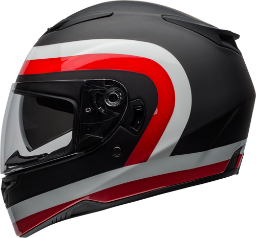 BELL RS-2 CRAVE MATTE/GLOSS BLACK/WHITE/RED