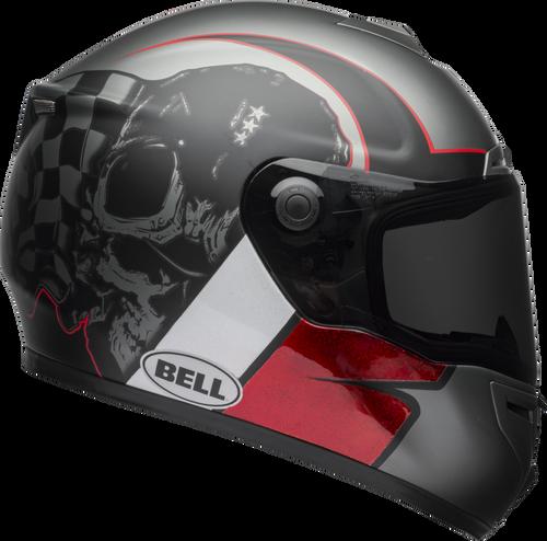 BELL SRT HART-LUCK GLOSS/MATTE CHARCOAL/WHITE/RED SKULL