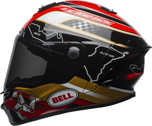 BELL STAR MIPS ISLE OF MAN 2018 GLOSS BLACK/GOLD