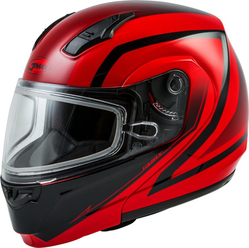 GMAX MD-04S Docket Snow Helmet Red/Black