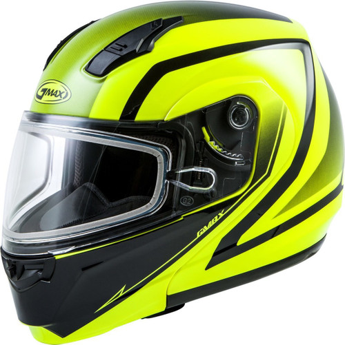 GMAX MD-04S Docket Snow Helmet Hi-Vis Yellow/Black