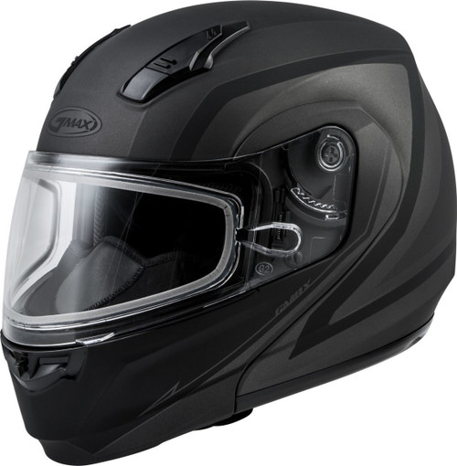 GMAX MD-04S Docket Snow Helmet Matte Dark Silver/Black
