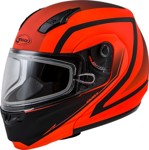 GMAX MD-04S Docket Snow Helmet Matte Hi-Vis Orange/Black