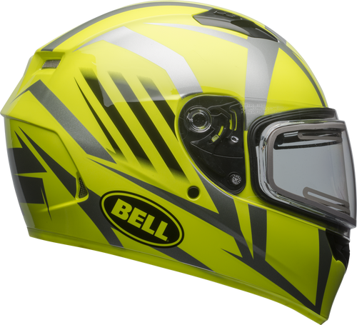 BELL QUALIFIER SNOW W/ELECTRIC SHIELD BLAZE GLOSS YELLOW/TITANIUM
